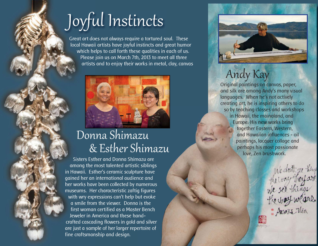 Joyful Instincts: Andy Kay, Esther Shimazu & Donna Shimazu
