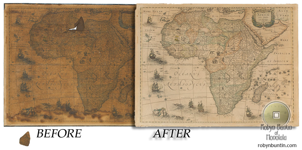Map Before And After Restoration