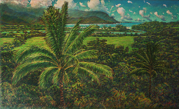 Hanalei, the Latest Painting from Artist Russell Lowrey